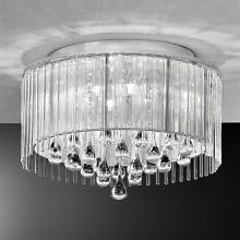 An image of a Spirit 6 Light Crystal Ceiling Light Polished Chrome